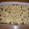 Crumble d'aubergines pommes de terre et mozzarella