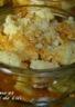 Crumble de pomme à la noix de coco et caramel au beurre salé