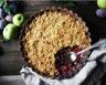 Crumble vanillé aux pommes et prunes rouges