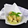 Cuisine d'été : dés de poulet sauce mayonnaise-pesto-cream cheese