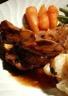 Cuisse de Canette Confite Sauce au Sirop d'Erable Pommes de Terre Sarladaises