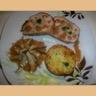 Cuisse de dinde farcie sauce velouté galet de pomme de terre à l alsacienne tourbillon de champignons