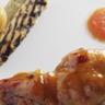 Cuisse de lapin confite au citron au sel gâteau d'aubergine au sésame