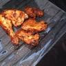 Cuisse et ailes de poulet rôties