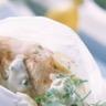 Cuisses de lapin en papillote et sa crème citronnée et herbe
