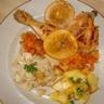 Cuisses de poulet à l'orange navets caramélisés