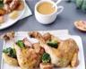 Cuisses de poulet mijotées sauce sirupeuse aux carottes poires au miel