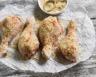 Cuisses de poulet panées au four