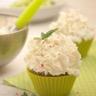 Cup-cakes chaud-froid aux jeunes courgettes pesto et chèvre frais