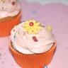 Cupcake citron-pavot et crème à la framboise