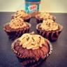 Cupcakes brownies-cacahuètes