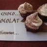 Cupcakes chocolat/courgette chantilly noix de coco et chocolat