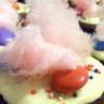 Cupcakes citron vert - pavot chantilly framboises - pralines