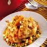Curry de poulet aux petits pois et jeunes carottes