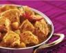 Curry de poulet en sauce et pommes de terre