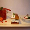 Déclinaison autour de la fraise : Gelée de fraise et tartare de fraises au basilic Mille-Feuille...