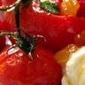 Dessert rouge 'tomate poivron framboise à l'huile d'olive sucrée'