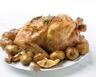 Dinde rôtie aux pommes de terre confites