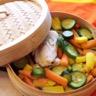 Dos de cabillaud vapeur et légumes croquants au beurre de basilic