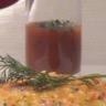 Douceurs de carottes au cerfeuil et coulis de tomates