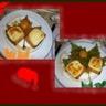 Duo de fromage sur pain d'épices chaud sauce caramel