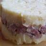 Ecrasée de pommes de terre andouille et camembert
