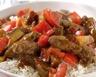 Emincé de bœuf sauté au riz et à la ratatouille en 30 min
