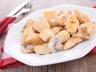 Emincés de poulet à la creme et aux champignons
