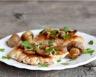 Escalope de dinde aux champignons et fromage maigre