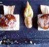Escalope de foie gras en compotée de panais aux court-pendus