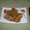 Escalope de veau au bacon et à la poire