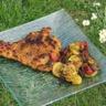 Escalopes de dinde panées au curry cuites à la plancha