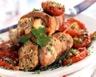 Escalopes de veau aux pignons et tomates confites
