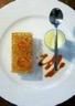 Feuille à feuille mousse de marrons bananes caramélisées et panacotta chocolat