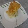 Feuilletines de saumon fumé ciboulette et duo de fromage frais