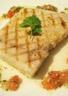Filet d'espadon grillé sauce tomate piquante à la coriandre