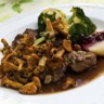 Filet de chevreuil aux chanterelles sauce Grand Veneur