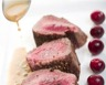 Filet de sanglier rôti sauce poivrade