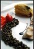 Filet de truites au rhubarbe polenta aux truffes et lentilles du Puy