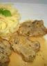 Filet mignon de porc au Côtes du Jura Blanc et aux échalotes