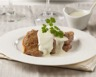 Filet mignon de porc-crème au roquefort au four
