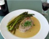 Filet mignon et asperges sauce au gorgonzola