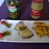 Filet mignon sauce moutarde et cornichons