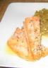 Filets de rouget grillés et compote de fenouil