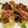 Filets de rougets au fenouil aux olives et aux tomates confites