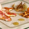 Filets de rougets et girolles au fenouil rôti et au lardo di Colonnata