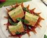 Flan de légumes variés au coulis de poivrons
