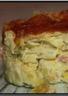 Flan de poireaux au bacon gratiné au Mont d'Or