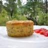 Flan de polenta à la ricotta courgettes & chèvre