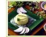 Flan de radis noir sauce persil